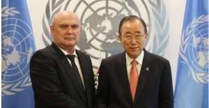 BM Daimi Temsilcisi Feridun Sinirlioğlu güven mektubuyla göreve başladı