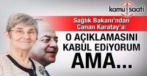 Sağlık Bakanı'ndan Canan Karatay açıklaması