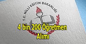 4 bin 200 Türkçe öğretmen alımı yapılacak