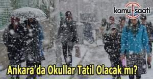Ankara'da yarın okullar tatil olacak mı? 28 Aralık MEB Valilik kar tatili açıklaması
