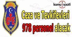 Ceza ve Tevkifevleri 978 personel alacak
