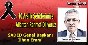 SADED Başkanı İlhan ERANIL#039;dan...