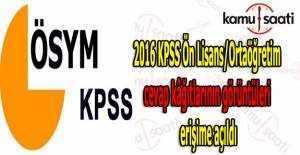 KPSS Ön Lisans/Ortaöğretim cevap kâğıtlarının görüntüleri erişime açıldı