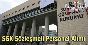 SGK Sözleşmeli personel alım ilanı
