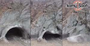 Yusufeli- Erzurum karayolu üzerindeki tünelde göçük
