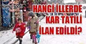 17 Ocak okullar tatil mi? Kar tatili...
