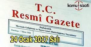 24 Ocak 2017 Tarihli ve 29958 Sayılı Resmi Gazete