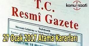 27 Ocak MEB ve Dışişleri, Enerji ve Orman Bakanlığı Atamaları Resmi Gazete'de