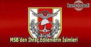 679 sayılı KHK ile TSK'dan ihraç edilen personelin isim listesi
