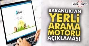 Bakanlıktan yerli arama motoru 'Geliyoo' açıklaması