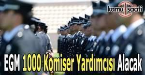 EGM 1000 komiser yardımcısı alacak