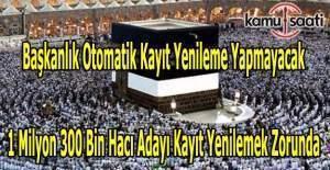 Hacı adayları kayıt yenilemezse başvuruları geçersiz sayılacak
