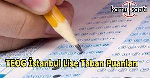 TEOG İstanbul lise taban puanları 2016-2017