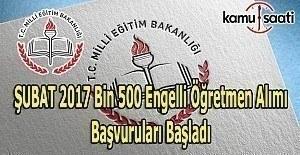 1500 Engelli Öğretmen alımı başvuru başladı - Başvuru tarihi ve şartları