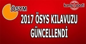 2017 ÖSYS kılavuzu güncellendi
