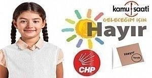 CHP Referandum Logosu belli oldu; quot;Geleceğim...