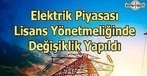 Elektrik Piyasası Lisans Yönetmeliğinde...
