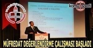 Müfredat değerlendirme çalışmaları Antalya'da start aldı