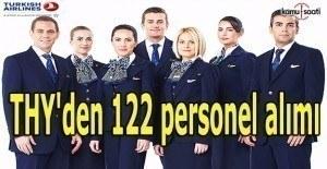 THY'den 122 personel alımı