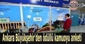Ankara Büyükşehir'den ödüllü kamuoyu anketi