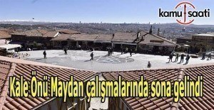 Ankara Kale Önü Maydan çalışmalarında sona gelindi