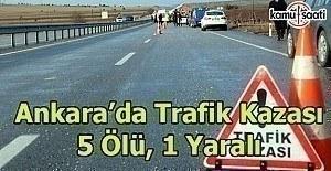 Ankara#039;da feci trafik kazası;...