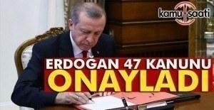 Cumhurbaşkanı Erdoğan'dan 47 kanun onayı