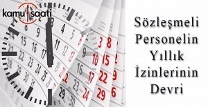 DPB'den KİT sözleşmeli personeli yıllık izin devri açıklaması