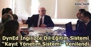 """DynEd İngilizce Dil Eğitim Sistemi """"Kayıt Yönetim Sistemi"""" Yenilendi"""