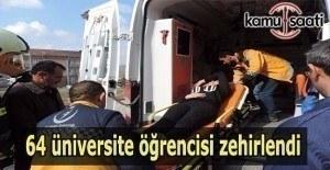 KYK yurdunda 64 üniversite öğrencisi zehirlendi