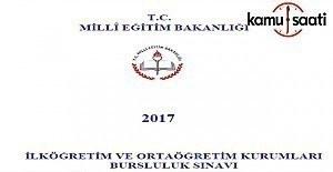 MEB PYBS Bursluluk Sınavı kılavuzu yayımlandı 2016-2017