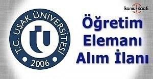 Uşak Üniversitesi Öğretim Üyesi Alımı