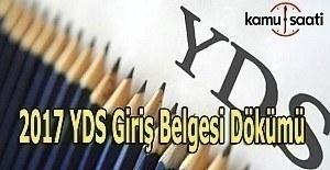 YDS İlkbahar Sınav giriş belgesi-yeri sorgulama ekranı