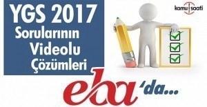 YGS 2017 soru çözümleri EBA'da