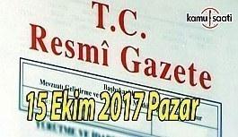 TC Resmi Gazete - 15 Ekim 2017 Pazar