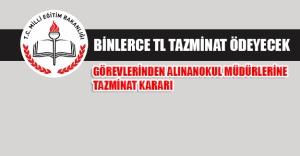 Milli Eğitim Bakanlığı görevden alınan okul müdürlerine binlerce TL tazminat ödeyecek