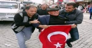 Eski boksörden HDP'li gruba Türk bayraklı tepki