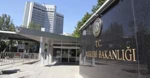 Dışişleri Bakanlığı Irak'taki saldırıları kınadı
