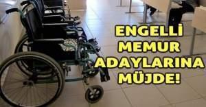 Memur olmak isteyen engellilere müjde!