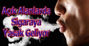 Açık alanlarda sigaraya yasak geliyor