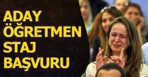 Aday Öğretmen Staj Başvuru Sayfası açıldı