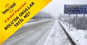 Bolu'da 8 Şubat Pazartesi günü kar tatili olacak mı?