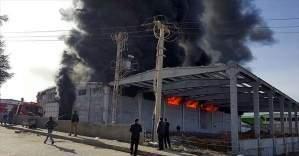 Korkutun fabrika yangını!