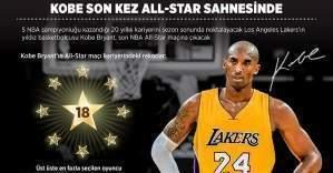 Los Angeles Lakers'ın yıldız oyuncusu Kobe Bryant son kez NBA ALL-Star'da forma giyecek