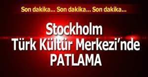 Stockholm'deki Türk Kültür Merkezi'nde patlama meydana geldi