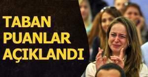 Şubat 30 bin öğretmen ataması sonucu oluşan taban puanlar açıklandı