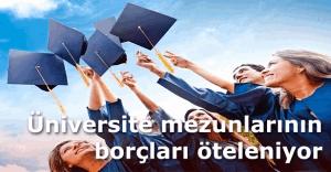 Üniversite mezunlarının borçları öteleniyor!