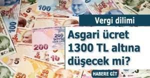 Asgari ücret vergi diliminden dolayı 1300 liranın altına düşmeyecek