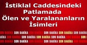 İstiklal Caddesindeki patlamada ölenlerin isimleri ve yaralıların isimleri 19 mart 2016