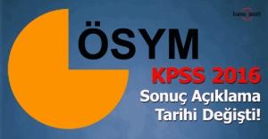 KPSS takviminde değişiklik!